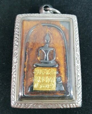 Original Temple Blessed Thai Amulet Phra Somdej Leklai Protection Luck Happiness