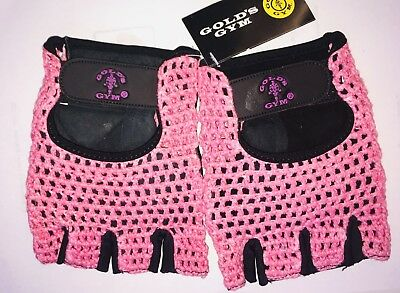 Gold's Gym Mesh Back Leather Weight Lifting Gloves