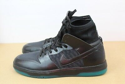 Nike SB Zoom Dunk High Elite Skate Boarding Shoe Black Teal 917567-003 Size 9.5