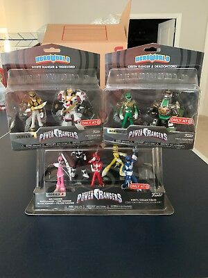 Funko Power Rangers Hero World Lot Red Blue Yellow Pink Black Green White Sealed