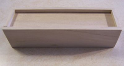 Lot Of (2) Unfinished Linden Wood  Pencil Box  Vintage Old School (Reproduction)