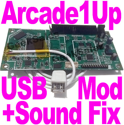 Arcade1Up USB mod service - Fix Sound & add USB Port + UART Pins to your board!