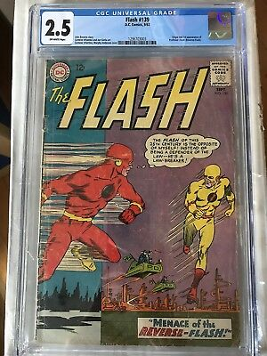 CGC 2.5 Flash #139 *Off-White*1963*Origin & 1st App. Professor Zoom*