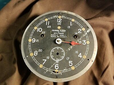 Rare WWII Seth Thomas Course Zig Zag sub avoidance U. S. Navy Ships Clock- 6 in