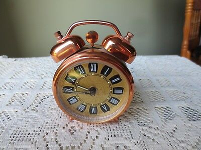 Working Vintage Hungarian Wind-Up Alarm Clock - Made in Hungary