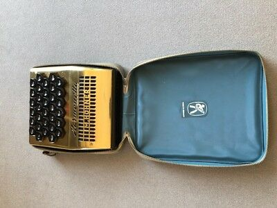 Hohner Harmonetta: Very rare harmonica with original case and French manual.