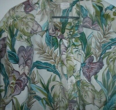 Men's Cookie Street Hawaiian Shirt' Made In Hawaii' Size 2X- Large