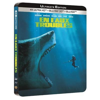 Blu-ray En eaux troubles - the meg 4k ultra hd [Blu-ray] - Jason Statham, Li Bin