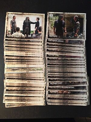 2018 Topps The Walking Dead Season 8 Part 1 One Complete Set (90 cards)