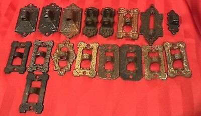 Old Vintage Cast Iron Lamp Plant Holder Bracket Ornate Eastlake Lot 17 Victorian