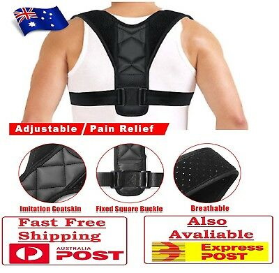 ✅ Posture Clavicle Support Back Straight Shoulders Brace Strap Correct Corrector