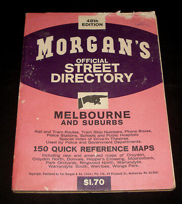 MORGAN'S MELBOURNE STREET DIRECTORY  48th EDITION 1960s