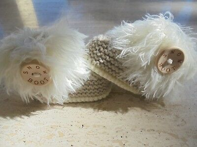 Knitting Pattern Baby Girl Shoes/Booties Makes 3 Sizes Quick Easy