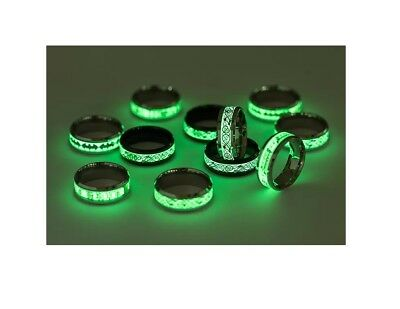11 x Gold & Silver Plating Fluorescent Lord Of The Rings - Dragon Jewelry