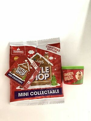 Coles Little Shop Mini Collectables Christmas Edition Gingerbread Ice Cream