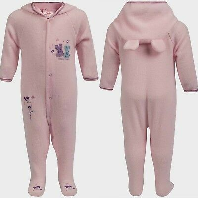 18 PC Baby Joblot Wholesale Sleepsuits Girls Fleece Pink Babgrow Romper Suits