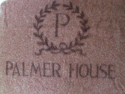 Vintage PALMER HOUSE HOTEL wool blanket throw 57 x 78 CHICAGO! Kenwood Mills NY