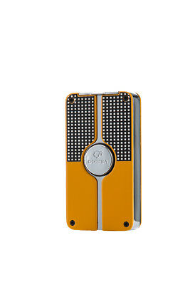 Yellow Classic Three Torch Jet Flame Cigar Cigarette Smoking Metal Lighter Punch