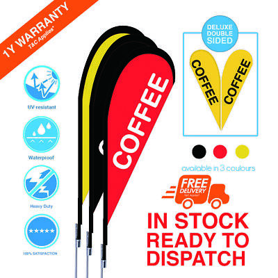 COFFEE Teardrop Flag/Banner Kit with Spike