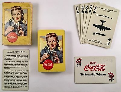 WWII Coca Cola Aircraft Spotter Cards Excellent & Complete In Box, Nice ONE-0142