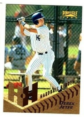 DEREK JETER 1996 Pinnacle HARDBALL HEROES #279 insert card NEW YORK YANKEES