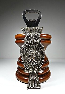 Antique our Vintage Bottle Opener Owl in Solid Brass