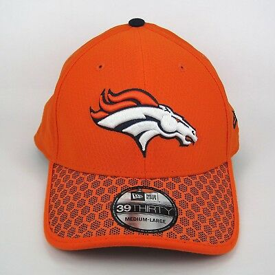 a4314042683 New Era Men s NFL Denver Broncos Team Colors Hex Tech 3930 Stretch Fit Cap  - M