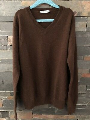 Boys 10 Papo D'anjo Classic Cashmere V Neck Sweater Chocolate Brown Holiday