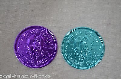 WALT DISNEY WORLD 20th ANNIVERSARY SURPRISE PARADE COINS   - RARE -