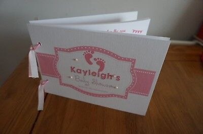 Personalised Baby Shower Guest Book -Baby Feet Theme 10/20  pages