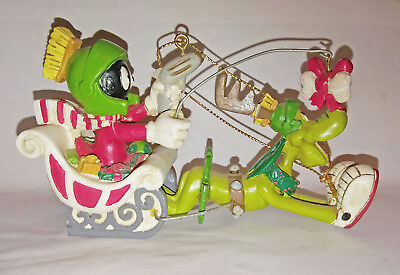 Marvin the Martian Sleigh Ride tree hanger Used