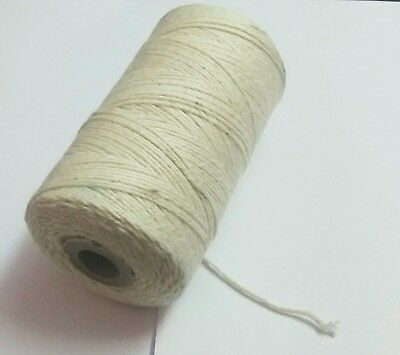 200 yards Cotton Thread Spool Candle wick Candlewicking handmade white Spool