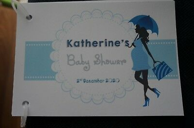 Personalised Baby Shower Guest Book Mum To Be, Bump Theme 10/20  pages