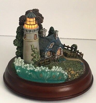 "Thomas Kinkade Sculpture, 2000 ""new Day Dawning "" Guiding Lights Collection"