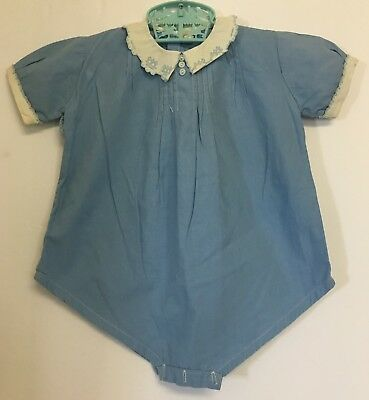Vintage Toddler Childs Tagged Castro & Co One Piece Romper Outfit Size 2 Years
