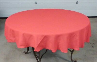 "Vintage Red VERA 67"" Round Tablecloth & Four Square 16"" Napkins"