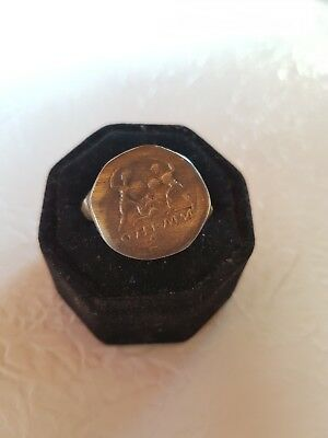 Ancient Bronze Legio Ring-Vintage-Antique ROMAN-BRONZE-RARE