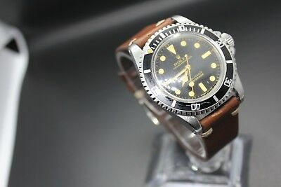 Rolex Submariner 5512 Vintage Glossy Gilt Meters First 2 Liner Dial
