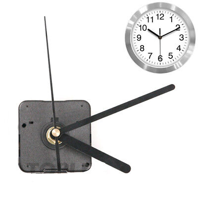 Black Wall Clock Quartz Movement Mechanism Battery Operated DIY Repair Part Kit
