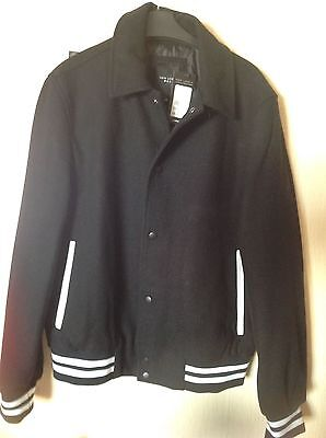 Nwt black men's wool mix jacket size medium rrp £54.99
