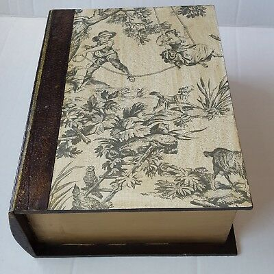 Hidden Book Conceal Secret Stash Hollow Storage Wooden Box War and Peace