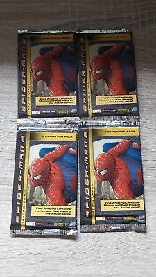 Spiderman 2 TCG 4 Booster Marvel Trading Card Game