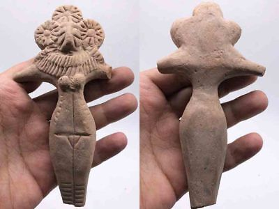 Ancient Large Size Teracotta Mother Goddess Indus Valley Circa 600 BC #SR2023