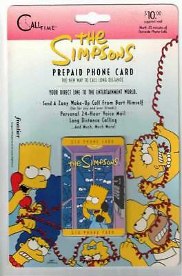 The Simpsons, Bart Simpson Phone Card. 1995 Frontier. Mint On Card