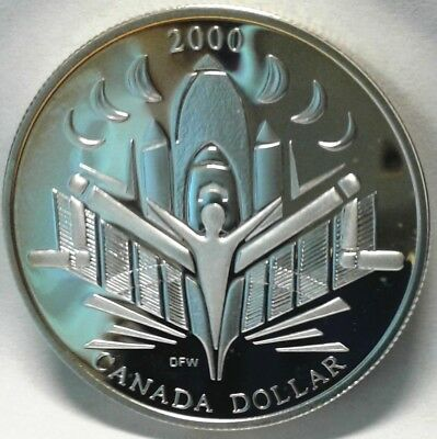 2000 CANADA UNC PROOF SILVER DOLLAR - Voyage of Discovery