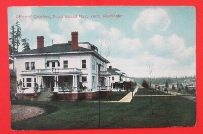 Officers Quarters Puget Sound Navy Yard WA Unposted DB Postcard