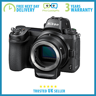New Nikon Z6 24.5MP Fullframe Camera With FTZ Mount Adapter - 3 Year Warranty