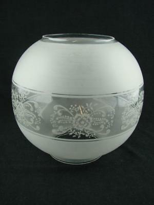 Large Reproduction Victorian Decorative Clear Glass Globe Shade For Oil Lamp
