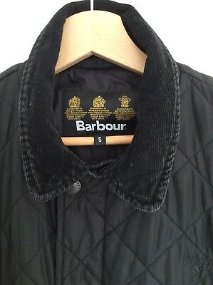 Mens Barbour Black Coat Size Small Chelsea Sports Quilted Jacket