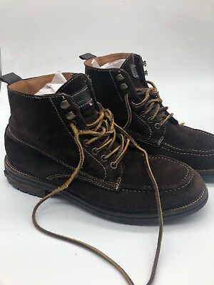 1320a9f06 Tommy Hilfiger Men s Brown Suede Ankle Boots Size 10